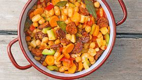 Chickpea stew with chorizo