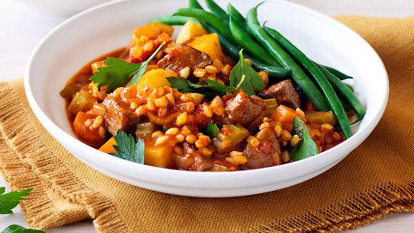 Lamb barley and rosemary stew
