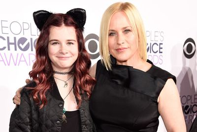 Patricia Arquette poses with her daughter Harlow Olivia Calliope.