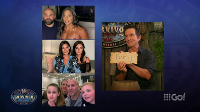 Jeff Probst announcing the winner of Survivor Winners at War.