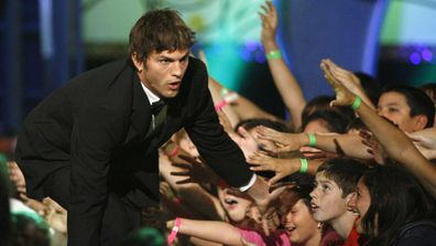 Ashton Kutcher at the Kids Choice Awards.