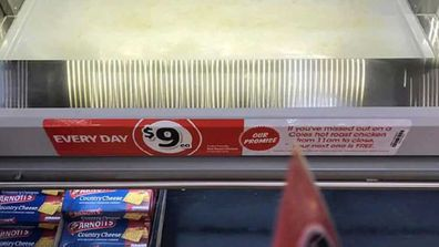 Coles sticker displays deal