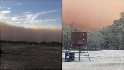 'Hazardous' dust storm sweeps across parts of NSW