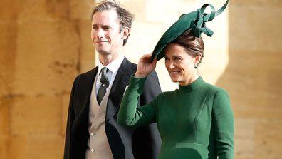 Pregnant Pippa Middleton arrives at Princess Eugenie's royal wedding