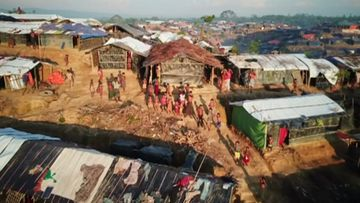 Drone captures shocking scale of Rohingya crisis