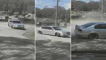 Terrifying moment hoon hurtles towards oncoming car