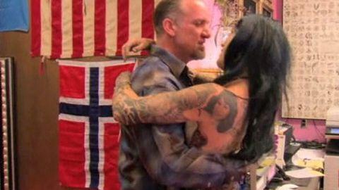 Kat Von D gets a tattoo of Jesse James' face