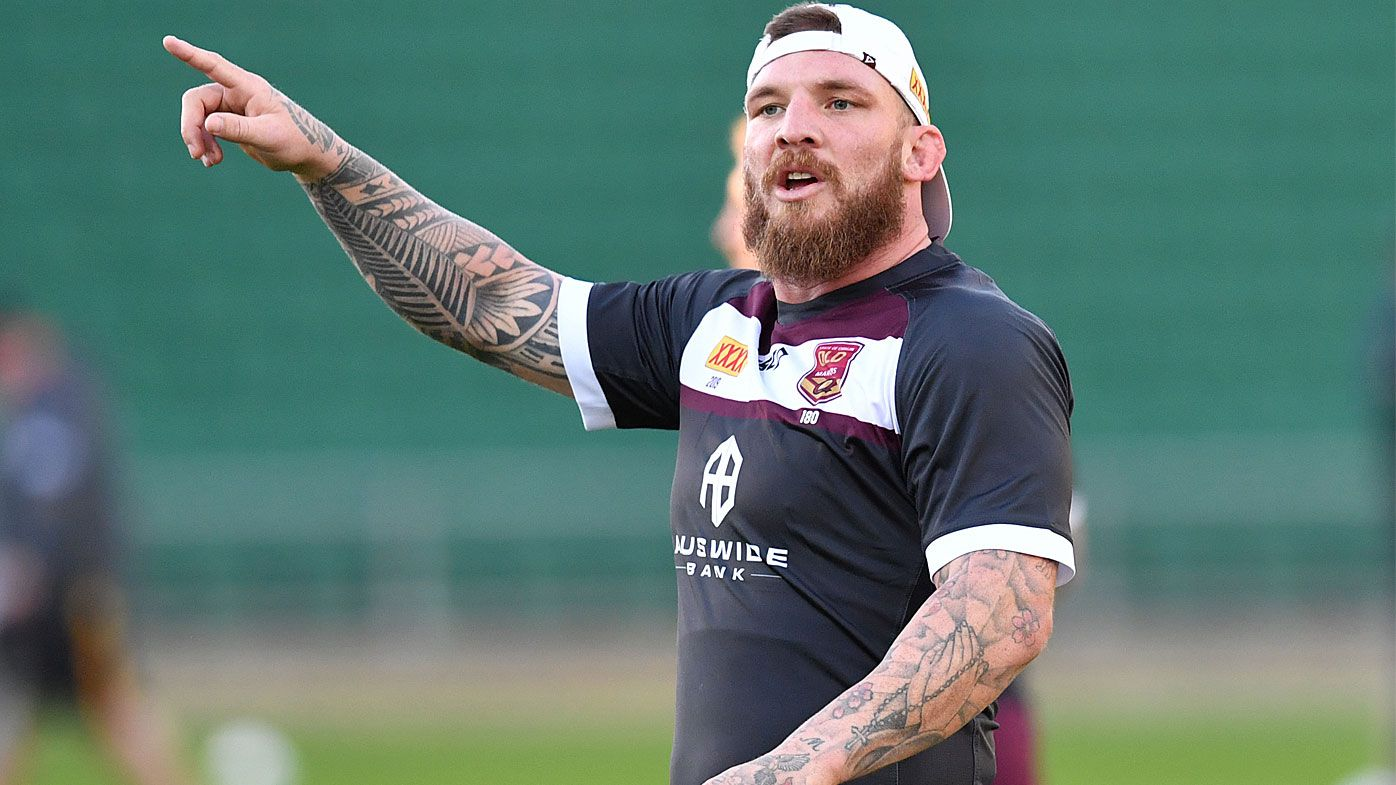 Josh McGuire at Maroons training