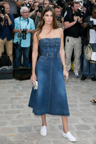 <p>6. Bianca Brandolini</p> <p>The daughter of Count Ruy Brandolini d'Adda and Countess Georgina, a Brazilian model who worked closely with Valentino has sharpened her fashion edge working with Dolce &amp; Gabbana and Sergio Rossi.</p> <p>At the Dior haute couture show in July Bianca was a style standout in a denim dress and simple white sneakers.</p>