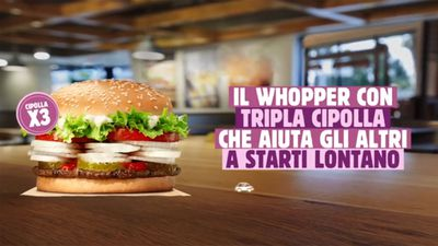 Burger King's 'social distancing Whopper' comes with triple dose of onions