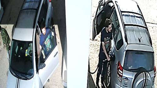 The pair used black tape to create racing stripes on the stolen RAV4 to mask its appearance.