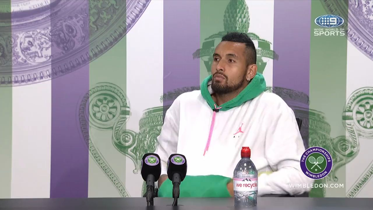 'Barely getting angry':  Nick Kyrgios bows out in 77 minutes at Citi Open