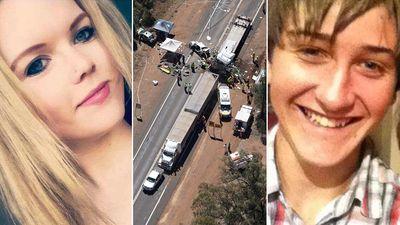 Teen couple named as roadworks crash victims