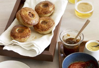 Ale and cider pork party pies