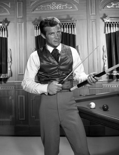 Robert Conrad portrays James T. West in the CBS television show, The Wild Wild West in 1965