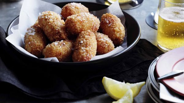 Snapper and red pepper croquettes