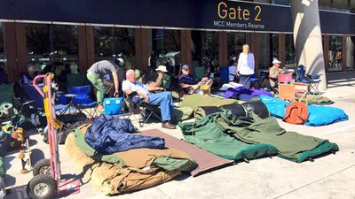 Keen fans camping out for tomorrow's game. (Twitter: @AFL)