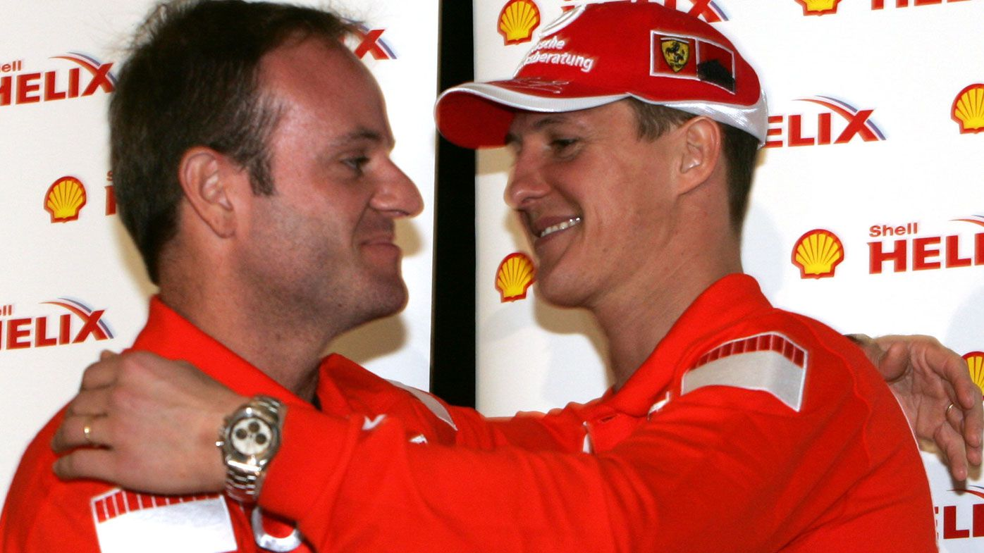 Ferrari Drivers Michael Schumacher and Rubens Barrichello in 2005 in Melbourne