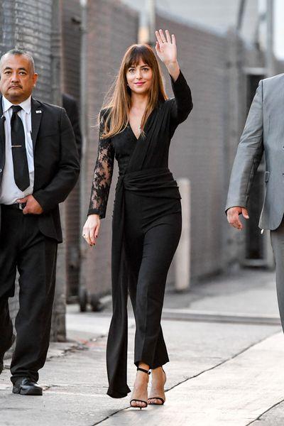 Dakota Johnson steps out to appear on Jimmy Kimmel Live! on October 11.