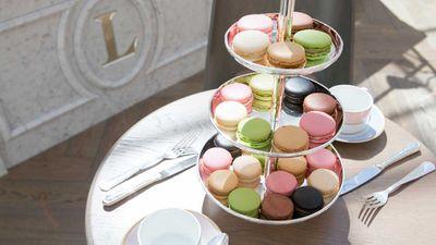 Ladurée's famous Parisian macarons