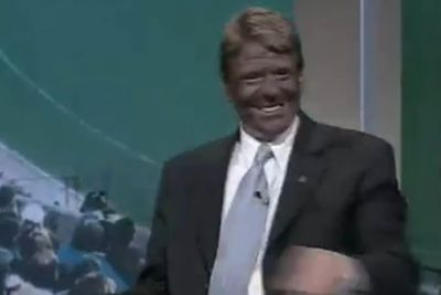 When Nicky Winmar was unable to appear on <i>The Footy Show</i>, Sam Newman impersonated him by painting his face black.