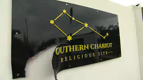 The group's signs have also been damaged.