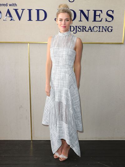 <p>No. 5. Rachael Taylor</p> <p>The Aussie actress wore a high-necked design from Australian Laureate winner Dion Lee in the David Jones marquee at the Caulfield Cup.</p>