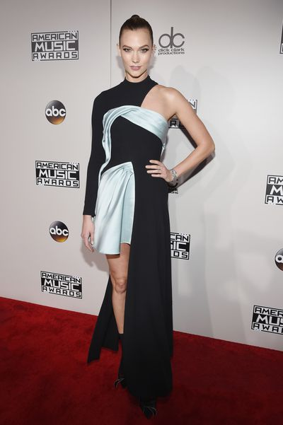 Number one<br> Karlie Kloss<br> It's difficult to go wrong when you're one of the world's top models. Add an Atelier Versace dress and it's game over.&nbsp;