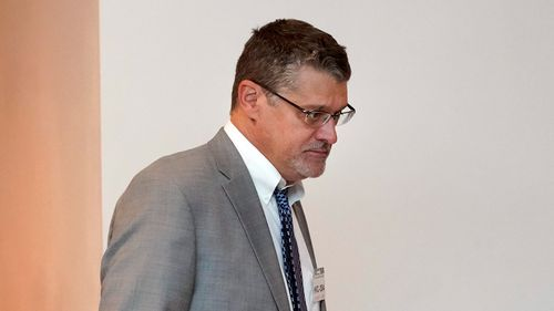 Glenn R. Simpson, co-founder of the research firm Fusion GPS, arrives for a scheduled appearance before a closed House Intelligence Committee hearing on Capitol Hill in Washington. (AAP)