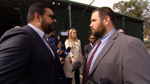 Mr Robertson and Islamc Council spokesman Ali Kadri had a volatile confrontation.
