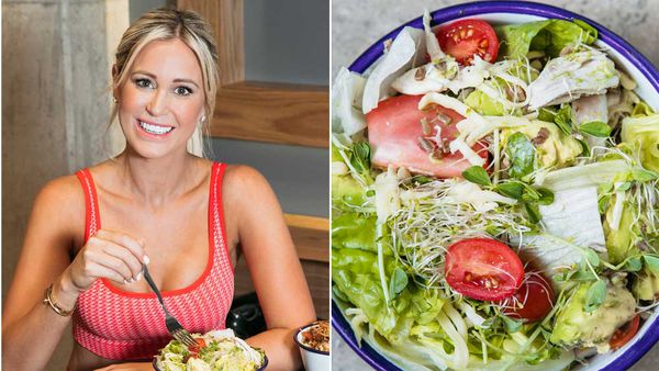 Roxy Jacenko post workout salad