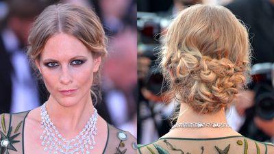 <p>Poppy Delevingne embraced a whole lot of plaiting at the <em>Carol</em> premiere at Cannes.</p>