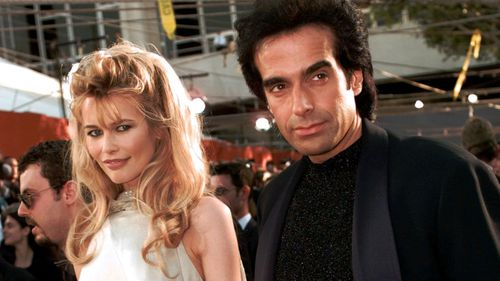 David Copperfield with former partner, Claudia Schiffer