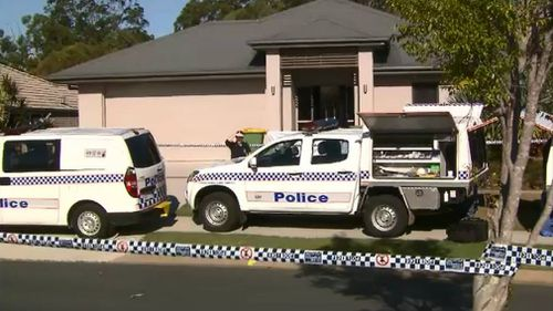 The woman was allegedly killed at her Mango Hill home. Picture: 9NEWS