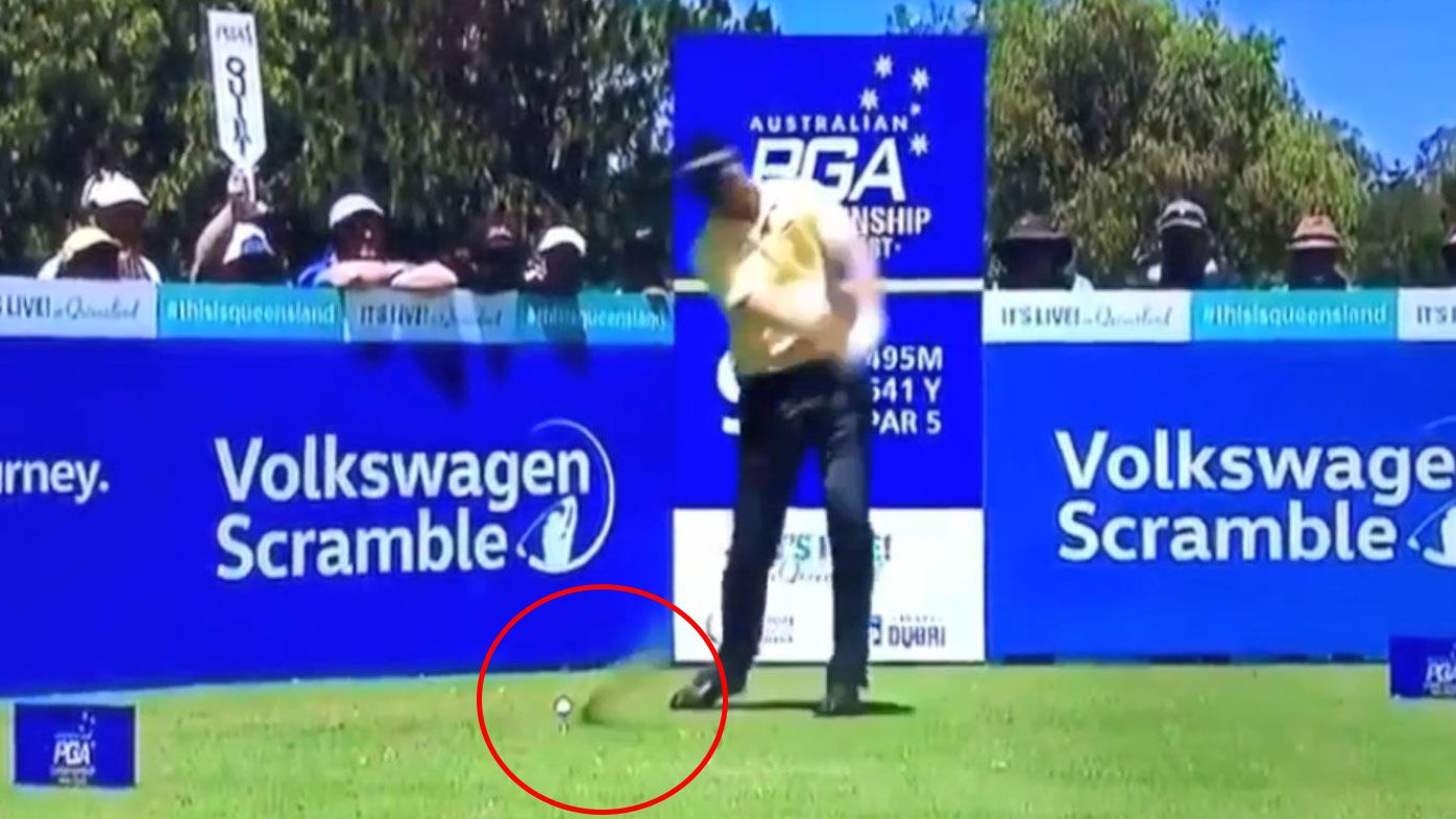 Golf: John Senden's Australian PGA air swing on tee