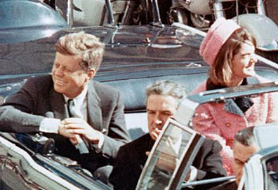 John and Jackie Kennedy in Dallas motorcade (Getty)