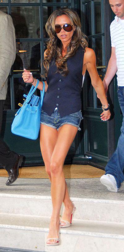 Victoria Beckham carrying an Hermes Birkin handbag in Baden Baden Germany, June 2006