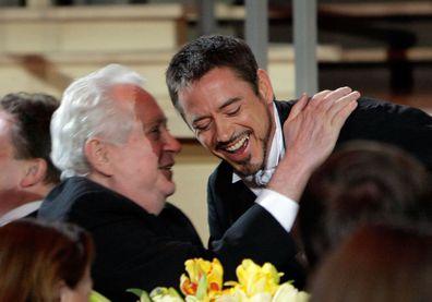 Actor Robert Downey Jr. and director Robert Downey Sr.