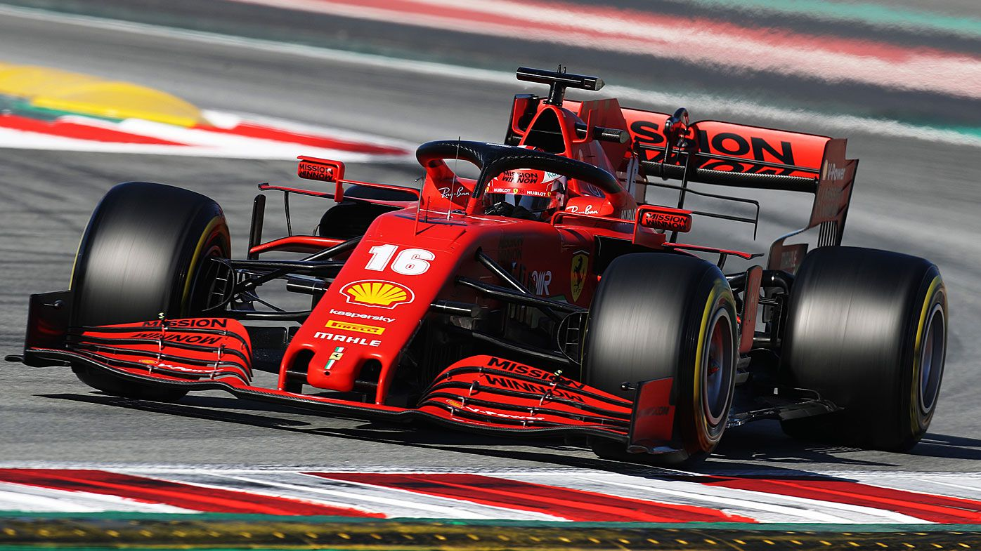 Charles Leclerc of Monaco driving the (16) Scuderia Ferrari SF1000 on track during Day Three of F1 Winter Testing at Circuit de Barcelona-Catalunya