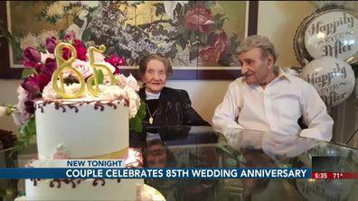 **Embargo: Omaha, Nebraska** America's longest living couple, Ralph and Dorothy Kohler, celebrated their 85th wedding anniversary.