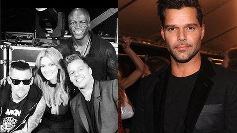 Get your first look at Ricky Martin with new <i>Voice</i> judging panel