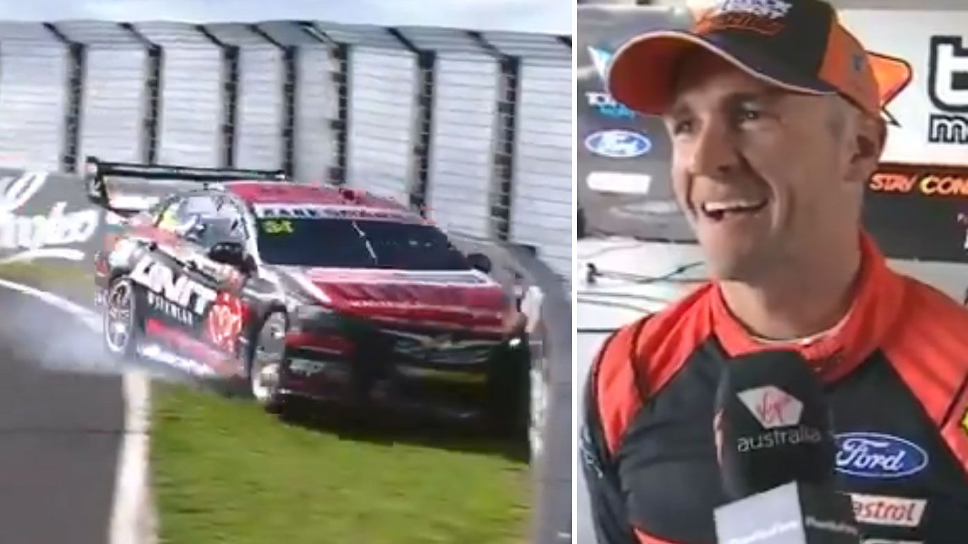 Kostecki crashes out as Holdsworth takes P1 in Qualifying.