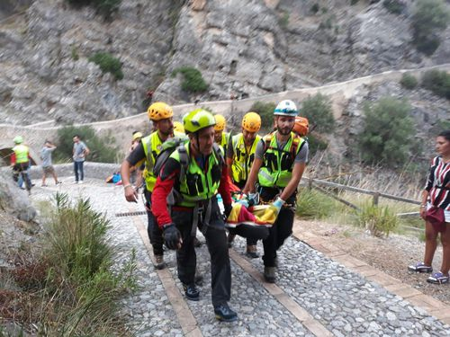 Search and rescue operations continue in gorge at Civita, near Cosenza.