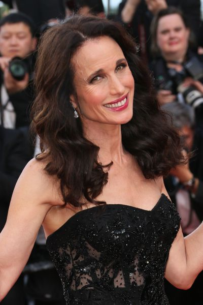 <p>Andie MacDowell, 59</p> <p>Tease hair at the crown and leave the part at the front for a more red carpet style.</p> <p>&nbsp;</p>