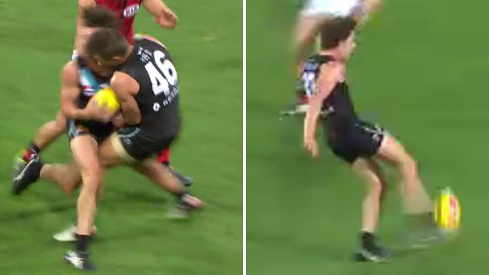 Port rookie kicks maiden goal after sickening head clash