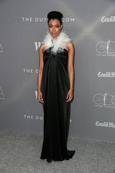 The Walking Dead star Sonequa Martin-Green in Adam Selman at the 20th Annual Costume Designers Awards