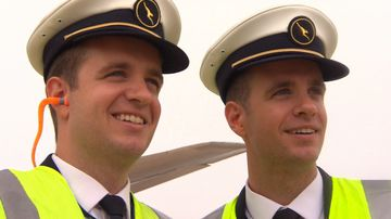 Seeing double: Qantas twins in airline first