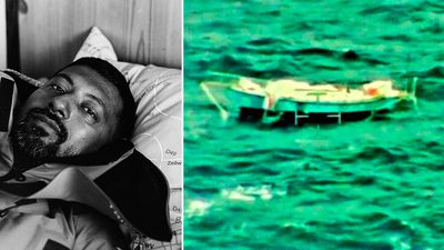 Rescued Indian sailor receiving treatment
