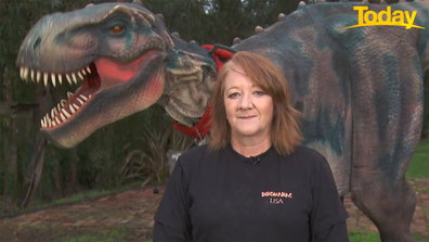 Lisa Ford, owner of Real Dinosaurs in Victoria, doesn't know if her business will survive the snap lockdown.