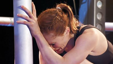 Olivia Vivian was emotional after become the first female in Australian Ninja Warrior history to make the Grand Finals Stage 2.